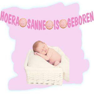 geboorteslinger met naam meisje