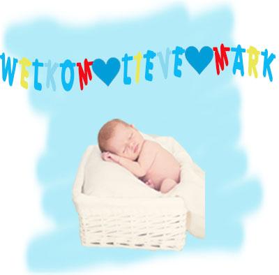 Geboorteslinger jongen welkom