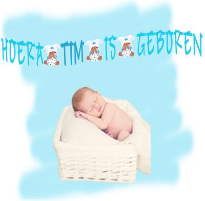 geboorteslinger met naam jongen