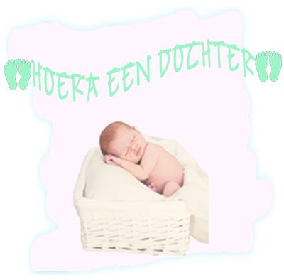 Geboorteslinger Hoera een Dochter